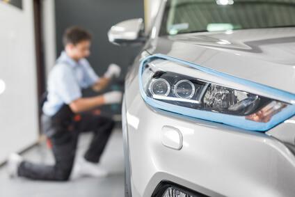 koncepcja detalowania samochodu automatyczne czyszczenie i polerowanie